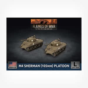 M4 Sherman (105mm) Assault Gun Platoon (Plastic)