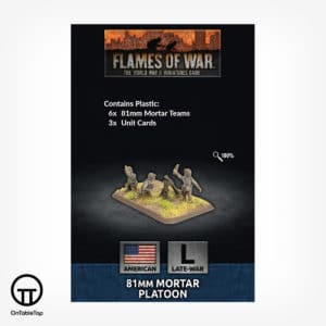 81mm Mortar Platoon (Plastic) (x6) - US804