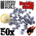 50x Resin Burning Skulls GSW-1498