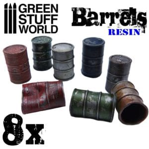 8x Resin Oil Barrels GSW-2048
