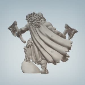 Gorr the Barbarian - 3D Printable Miniature