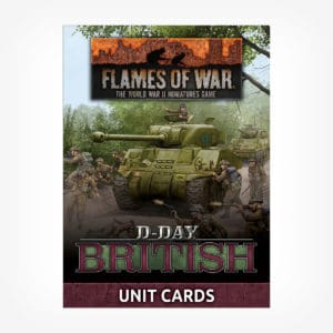 D-Day British Unit Cards
