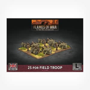 25 pdr Field Troop (x4 Plastic)