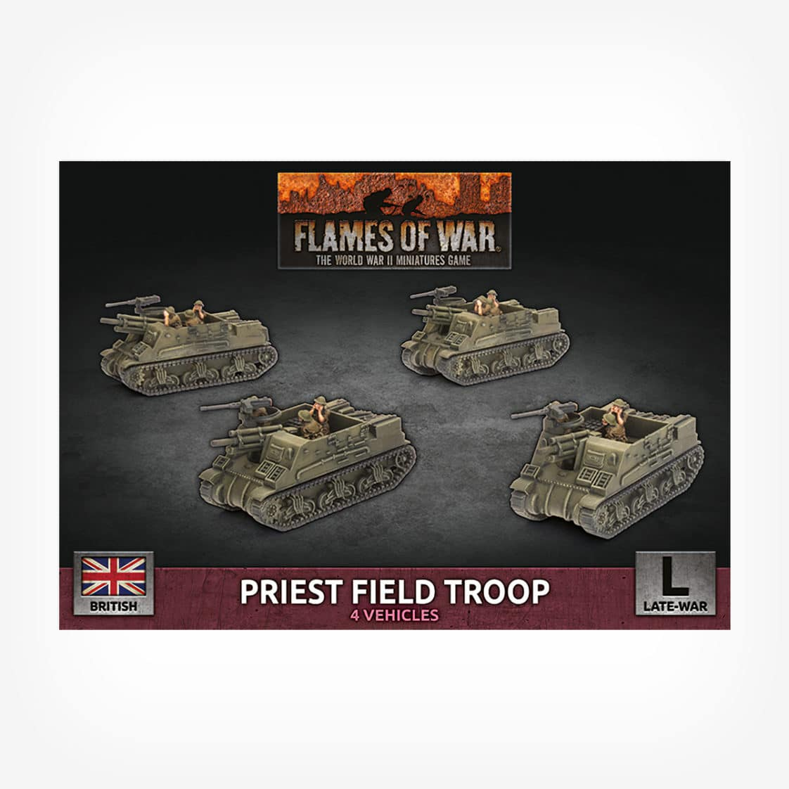Priest Field Troop (x4 Plastic)
