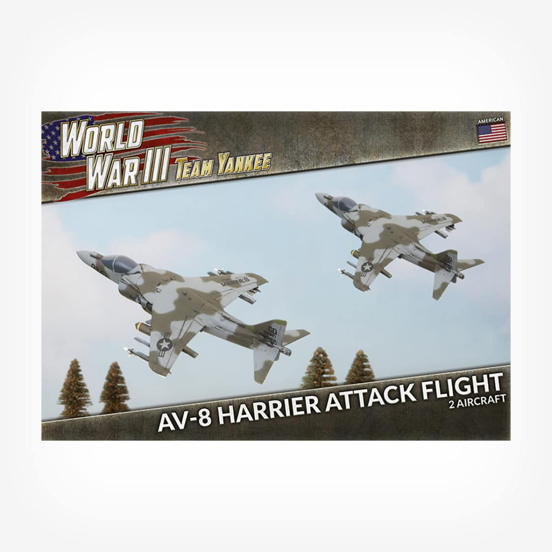 AV-8 Harrier Attack Flight (x2 Plastic)