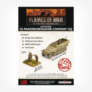 Armoured SS Panzergrenadier Company HQ (Plastic)