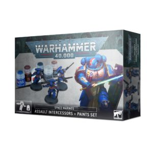 Space Marine Assault Intercessors + Paint Set