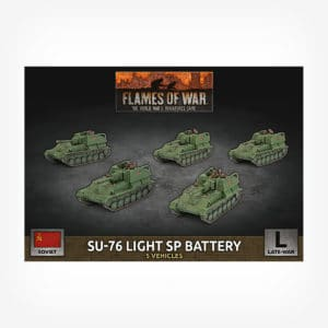 SU-76 Light SP Battery (x5 Plastic)