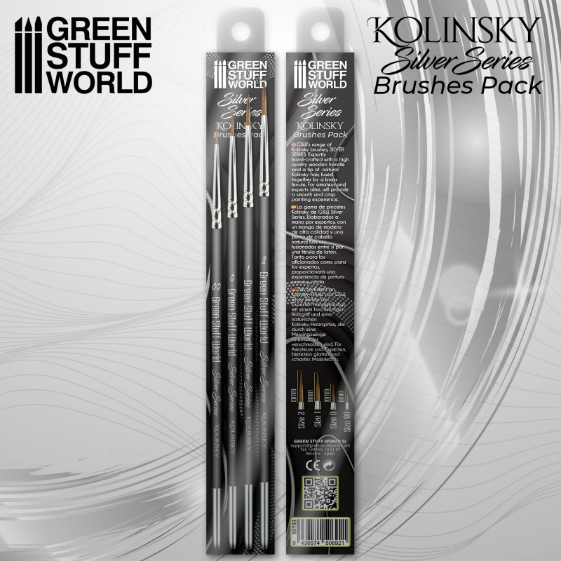 Silver Series Kolinsky Brush Set