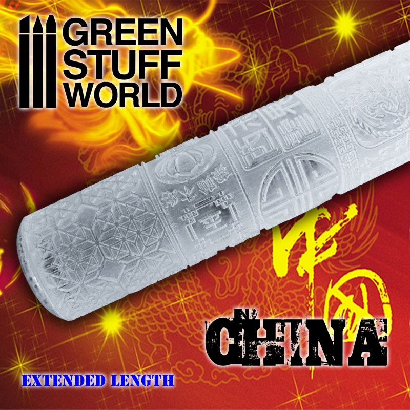 Textured Rolling pin - Chinese