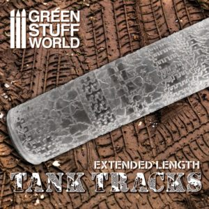 Textured Rolling pin - Tank Tracks