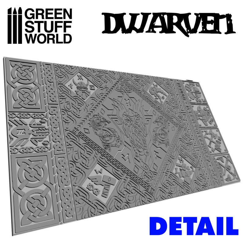 Textured Rolling pin - Dwarven