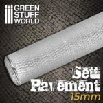 Textured Rolling pin – Sett Pavement 15mm