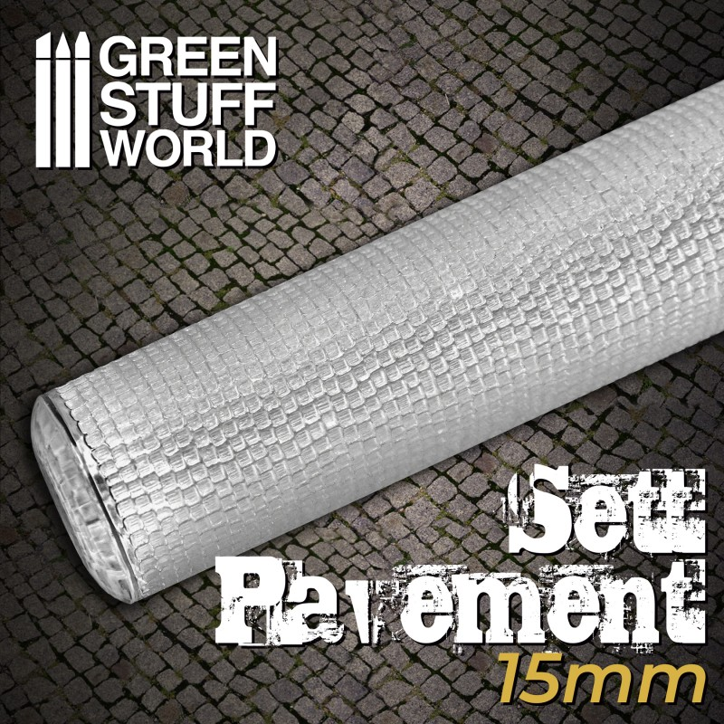 Textured Rolling pin - Sett Pavement 15mm