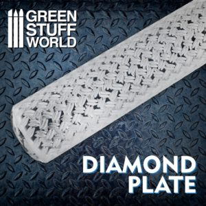 Textured Rolling pin - Diamond Plate