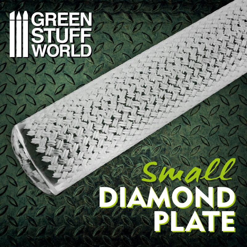 Textured Rolling pin - Diamond Plate - Small