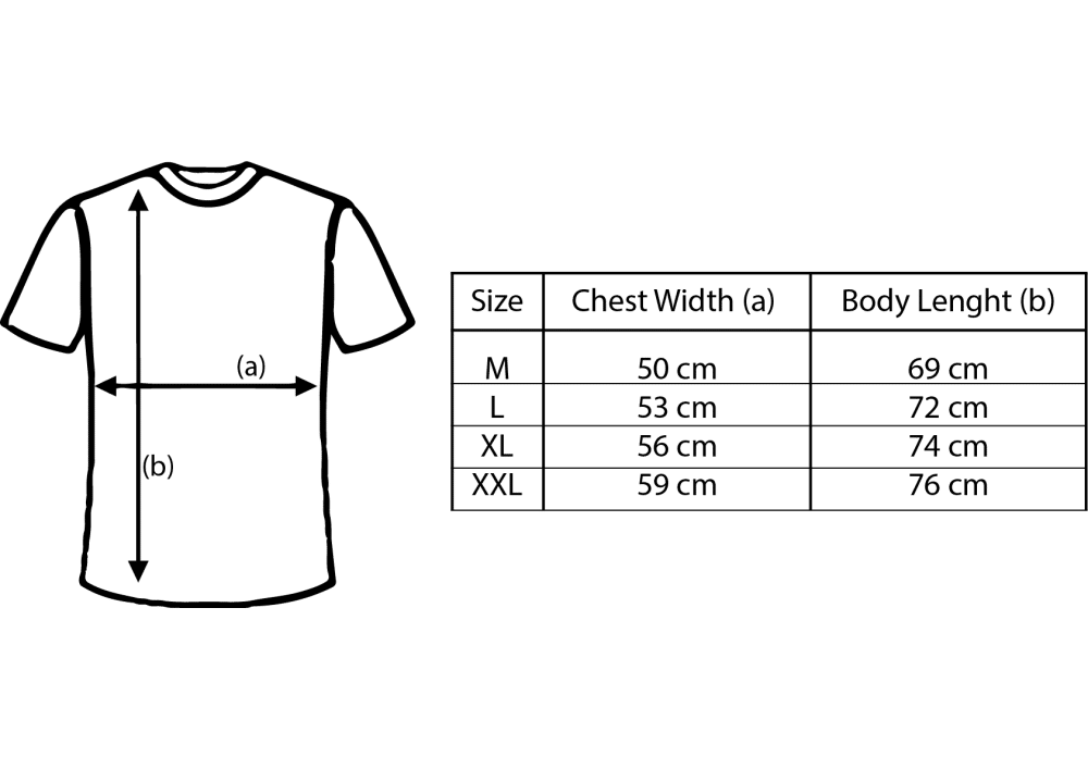 First Blood T-Shirt measurements